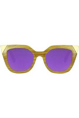 Flor Amazona Victoria Purple handgemaakt zonnebril 24 karaat verguld