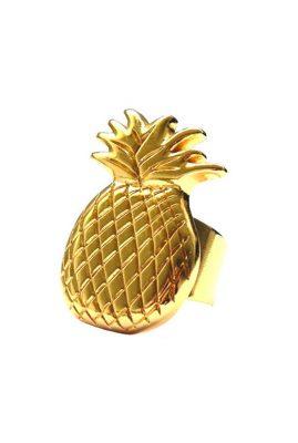 Flor Amazona Pineapple ring 24 karaat vergulde luxury bijoux
