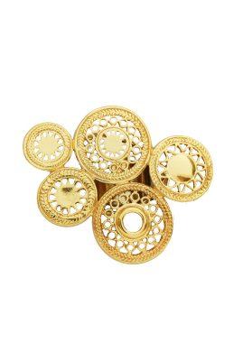 Flor Amazona Del Sol statement ring 24 karaat verguld luxury bijoux musthave