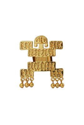 Flor Amazona Tribu statement ring 24 karaat verguld luxury bijoux musthave