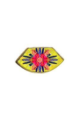 Flor Amazona Sunrise Cheetah Yellow emaille ring 24 karaat vergulde luxury bijoux