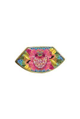 Flor Amazona Palenquera Blue emaille ring 24 karaat vergulde luxury bijoux