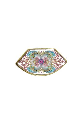 Flor Amazona Neptune Treasure Aqua emaille ring 24 karaat vergulde luxury bijoux