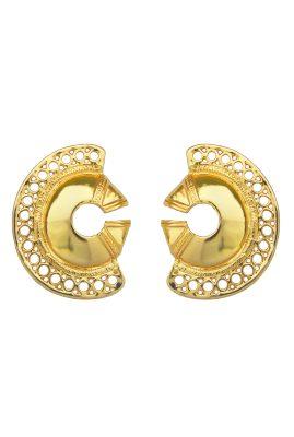 Flor Amazona Calamari statement oorbellen 24 karaat verguld luxury bijoux musthave