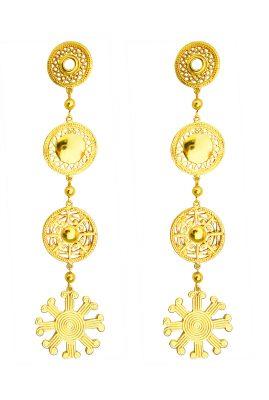 Flor Amazona Del Sol statement oorbellen 24 karaat verguld luxury bijoux musthave