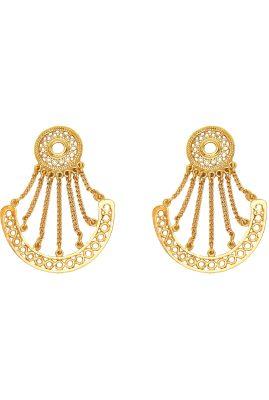 Flor Amazona Sue Chandelier oorbellen 24 karaat verguld luxury bijoux musthave
