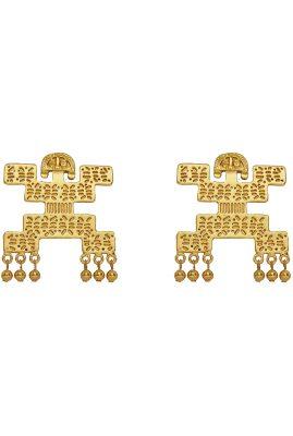 Flor Amazona Tribu statement oorbellen 24 karaat verguld luxury bijoux musthave