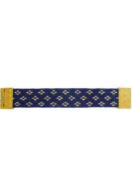 Flor Amazona glaskralen Midnight Stars armband 24 karaat verguld luxury bijoux