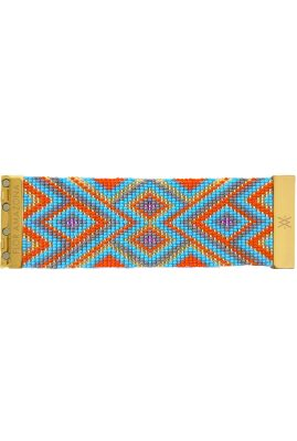 Flor Amazona glaskralen Fabulosa armband 24 karaat verguld luxury bijoux