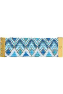 Flor Amazona glaskralen Curacao armband 24 karaat verguld luxury bijoux