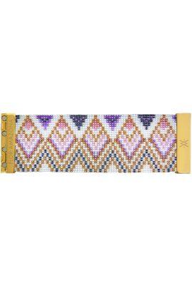Flor Amazona glaskralen Aruba Pink armband 24 karaat verguld luxury bijoux