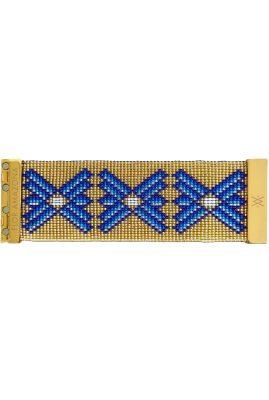 Flor Amazona glaskralen Santorini armband 24 karaat verguld luxury bijoux