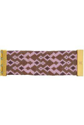 Flor Amazona glaskralen Azalea armband 24 karaat verguld luxury bijoux
