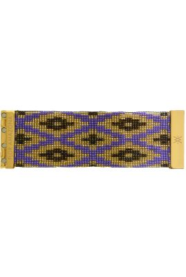 Flor Amazona glaskralen Fiji Night armband 24 karaat verguld luxury bijoux