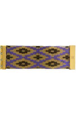 Flor Amazona glaskralen Fiji Night armband 24 karaat verguld luxury bijoux