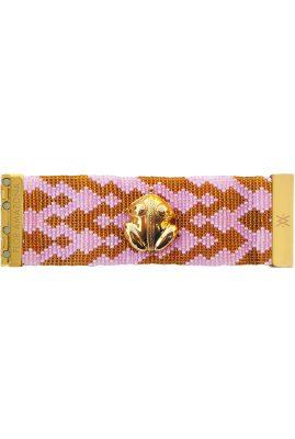 Flor Amazona glaskralen El Dorado Flamingo armband 24 karaat verguld luxury bijoux
