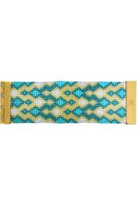 Flor Amazona glaskralen Emerald armband 24 karaat verguld luxury bijoux