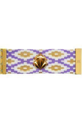 Flor Amazona glaskralen El Dorado Fiji armband 24 karaat verguld luxury bijoux