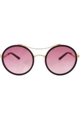 Flor Amazona Vera Black handgemaakt zonnebril 24 karaat verguld
