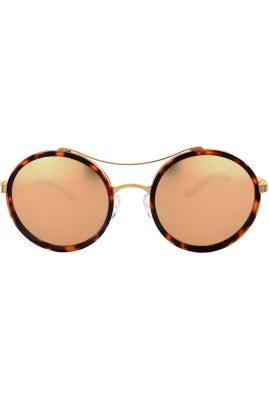 Flor Amazona Vera Brown handgemaakt zonnebril 24 karaat verguld