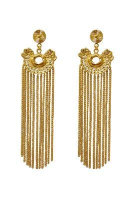Flor Amazona Calamari Dos Serpientes Rain oorbellen 24 karaat verguld luxury bijoux musthave