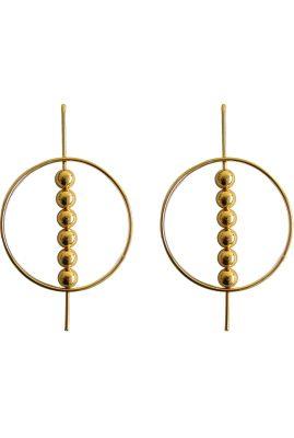Flor Amazona Pandora statement oorbellen 24 karaat verguld luxury bijoux musthave