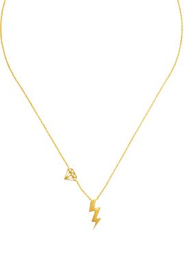 Flor Amazona Gem Bolt ketting 24 karaat verguld luxury bijoux musthave