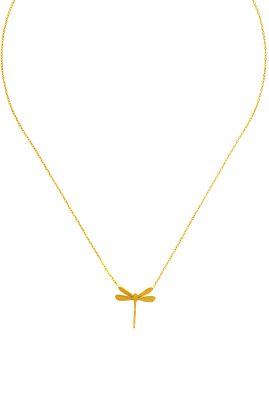 Flor Amazona Dragonfly ketting 24 karaat verguld luxury bijoux musthave