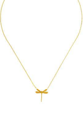 Flor Amazona Dragonfly ketting 24 karaat verguld luxury bijoux musthave