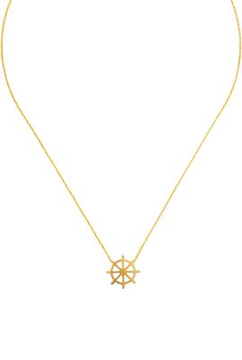Flor Amazona Helm ketting 24 karaat verguld luxury bijoux musthave