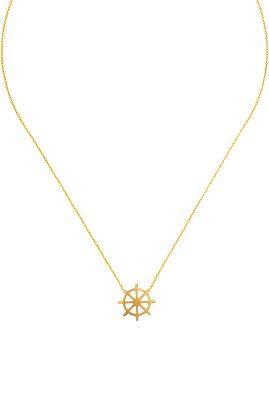 Flor Amazona Helm ketting 24 karaat verguld luxury bijoux musthave