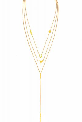 Flor Amazona Multianimals Air ketting 24 karaat verguld luxury bijoux musthave