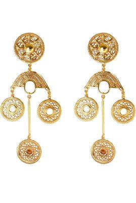 Flor Amazona Neptune Treasure Aqua emaille ring 24 karaat vergulde luxury bijoux