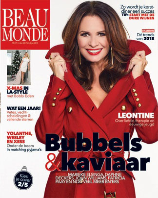 Leontine Borsato wears earrings and ring of Liza Echeverry for cover Beau Monde