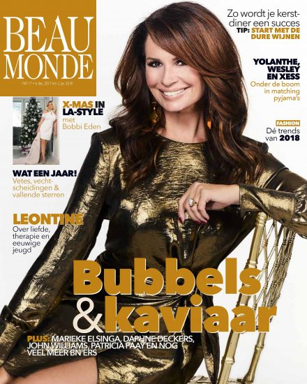 Leontine Borsato wears earrings of Liza Echeverry for cover Beau Monde