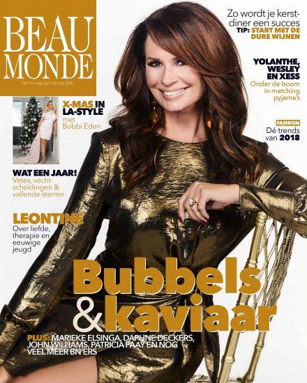 Leontine Borsato wears earrings of Liza Echeverry for cover Beau Monde