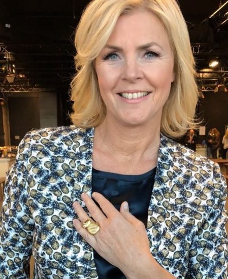 Irene Moors wearing Flor Amazona's Pineapple Ring